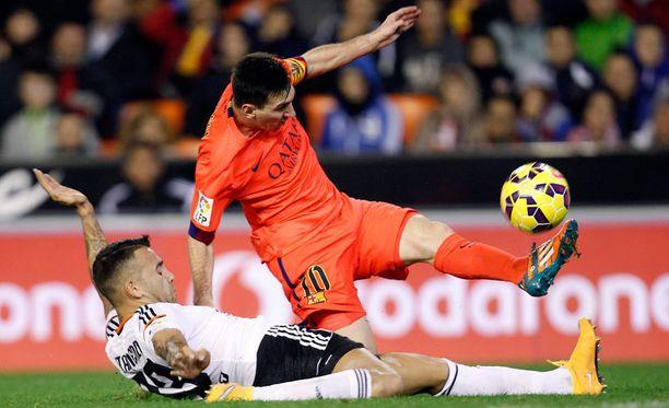 Lionel Messin Barcelona venyi 1-0-vierasvoittoon Valenciasta.