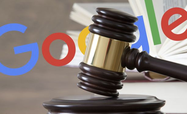 Brittimies peittosi Googlen oikeudessa.
