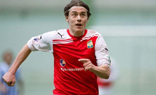 Mypan Pekka Sihvola avasi maalitilinsä kauden avausottelussa.