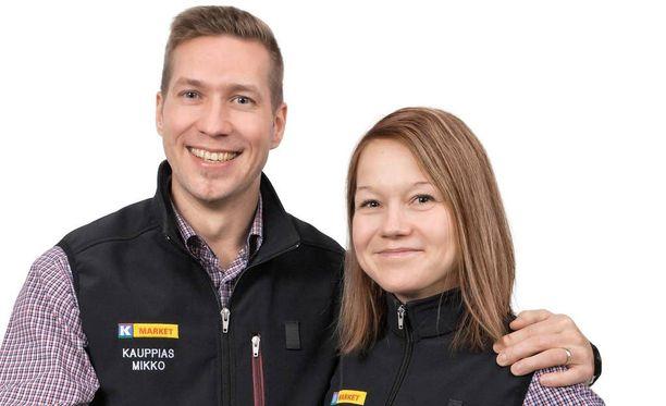 Kauppiaat Eleanoora Karlsson-Seppänen ja Mikko Seppänen saivat idean toisen K-kaupan esimerkistä.