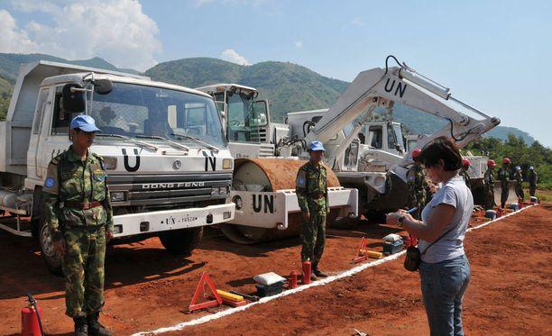 Kongossa palveli kiinalaisia joukkoja vuonna 2009.