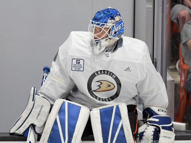 Lukas Dostal kävi Anaheim Ducksin leirillä.