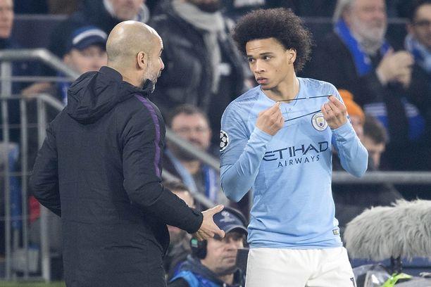 Leroy Sené pääsee pois Pep Guardiolan liian ankarasta kurista.