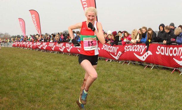 Lucy Pygott oli huippulupaus 3000 metrin matkalla.