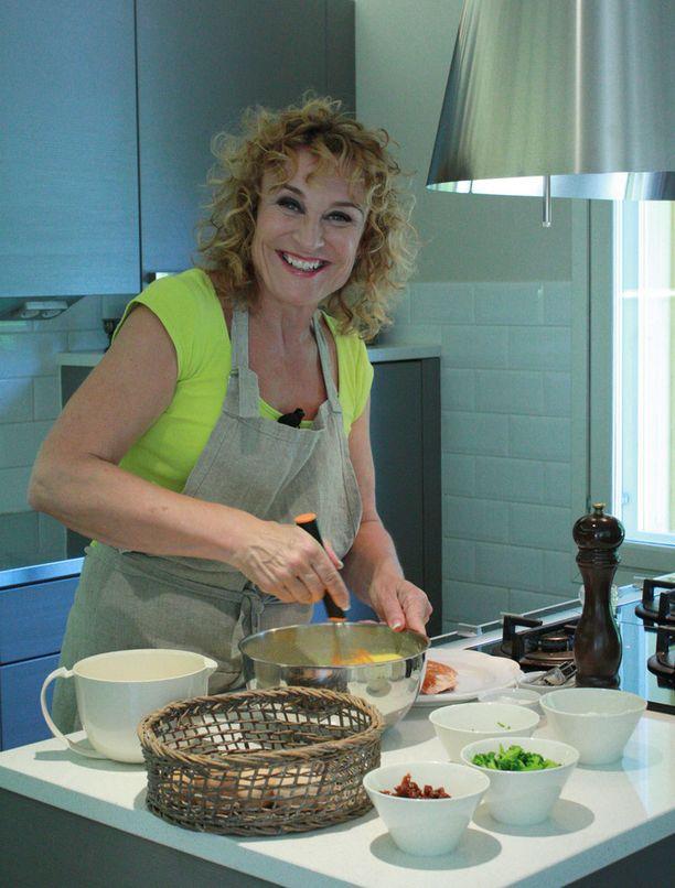 Hanna Sumari kokkaa mielellään - ja nimenomaan terveellisiä herkkuja.