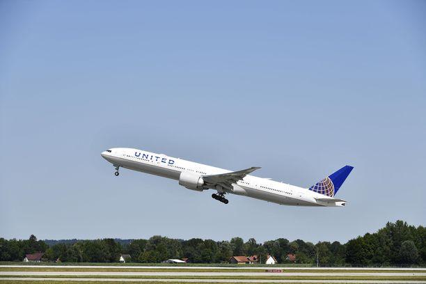 Välikohtaus sattui United Airlinesin lennolla helmikuussa. Kuvituskuva.