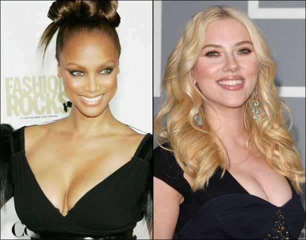 Kärkikolmikkoon pääsivät myös Tyra Banks ja Scarlett Johansson.