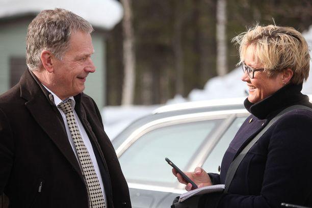 Iltalehti haastatteli presidentti Sauli Niinistöä Ristimellan porotilalla Äkäslompolossa keväällä 2016.