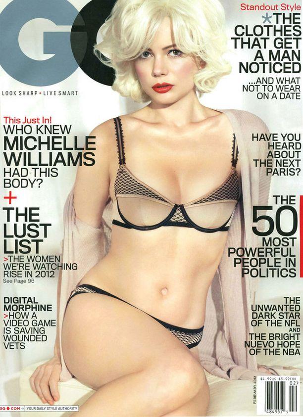 Michelle Williams kohautti upevartaloisena lehden kannessa.