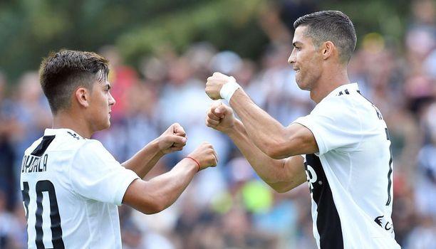 Paulo Dybala ja Cristiano Ronaldo muodostavat tulevalla kaudella melkoisen pelotteen Juventuksen vastustajajoukkueille.