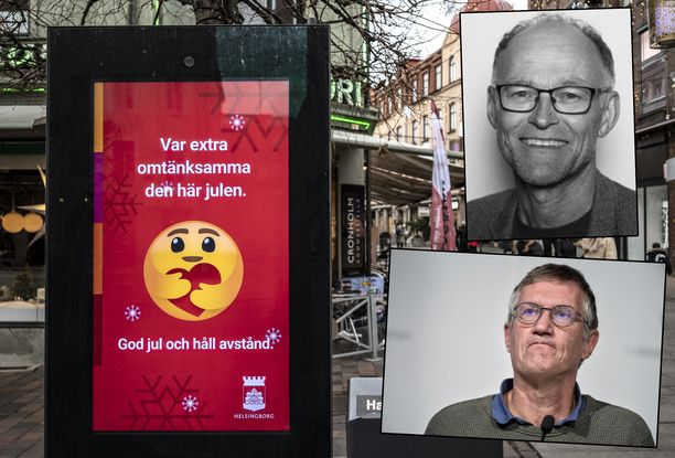 Norjan ja Ruotsin kansanterveyslaitosjohtajat ovat eri mieltä Ruotsin koronakehityksen syistä. Ylhäällä Norjan Frode Forland, alhaalla Ruotsin Anders Tegnell.