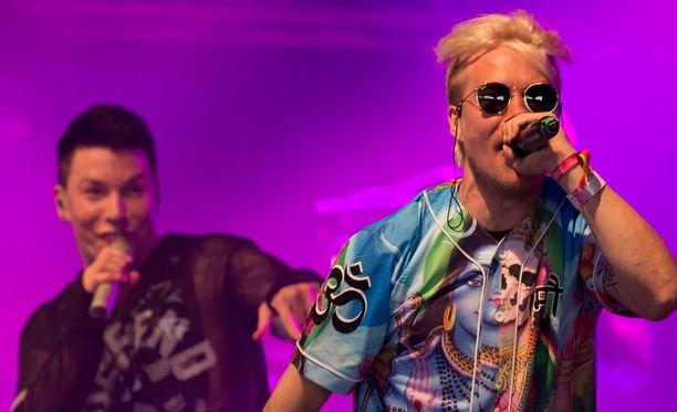 VilleGalle ja Antti Tuisku esiintyivät yhdessä viime kesänä Ruisrock-festivaaleilla.