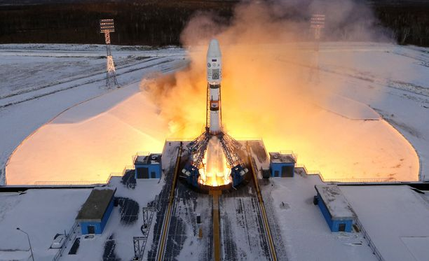 Soyuz 2.1b -kantoraketti laukaistiin uudesta kosmodromista Amurin alueella.
