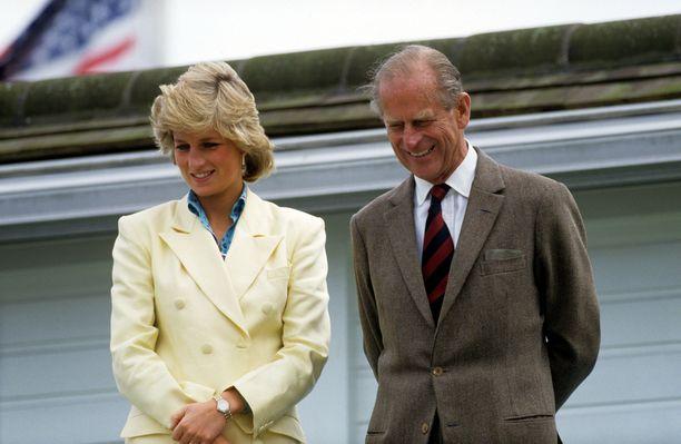 Diana ja Philip seurasivat poolo-ottelua vuonna 1987.