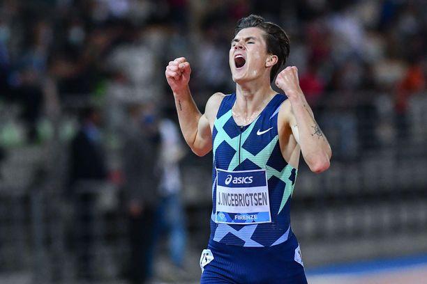 Jakob Ingebrigtsen säväytti viime viikolla Timanttiliigassa 5 000 metrin kisassa.