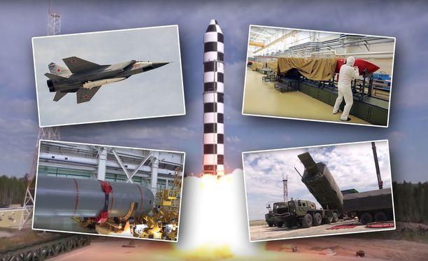 Venäjän presidentti Vladimir Putin nosti maansa uudet strategiset aseet esiin puheessaan maaliskuun alussa.