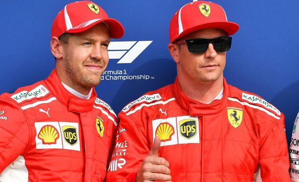 Sebastian Vettelin mukaan Kimi Räikkösellä on lupa voittaa huomenna.