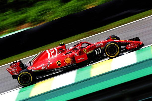 Kimi Räikkönen oli Brailian GP:n viimeistelyharjoitusten neljäs.