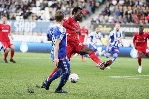 Abdoulie Mansally ei ole pelannut Veikkausliigassa yli kuukauteen.