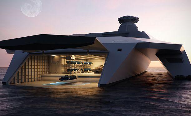 Alus ei näy tutkassa ja se voidaan myös upottaa lähes kokonaan veden alle.
