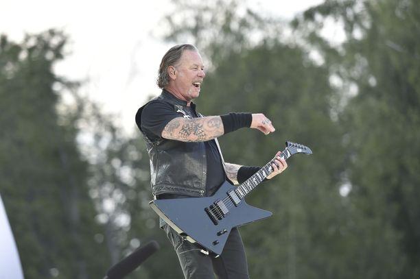 Metallica konsertoi tiistaina Kantolan tapahtumapuistossa.