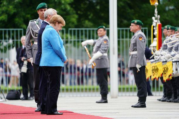Merkel tapaa Antti Rinnettä Berliinissä.