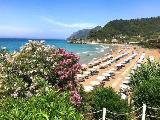 Korfu on suomalaistenkin suosima rantakohde Kreikassa.