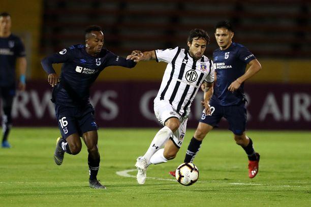 Colo Colon ja Universidad Catolican paikalliskamppailut ovat kuumia otteluita. Kuva toukokuulta 2019.
