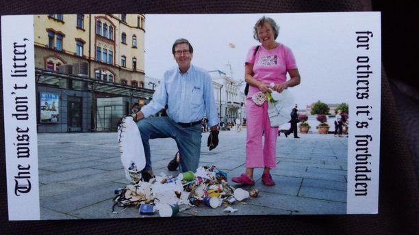 Kaija ja Ilkka Erkkilä aloittivat roskien keräämisen lokakuussa vuonna 2011 Tampereella.