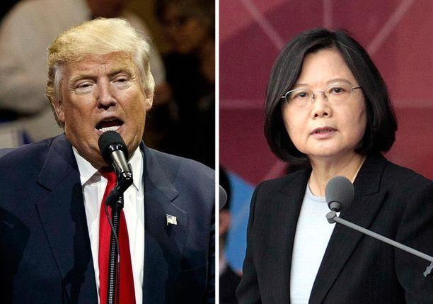 Donald Trump ja Tsai Ing-Wen keskustelivat historiallisesti puhelimessa.