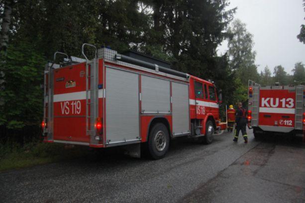 Vantaan Rajakylässä paloi sunnuntaina.