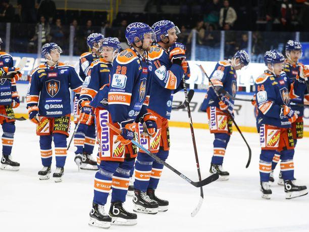 Tappara on SM-liigassa kolmanneksi viimeinen viiden pelikierroksen jälkeen.