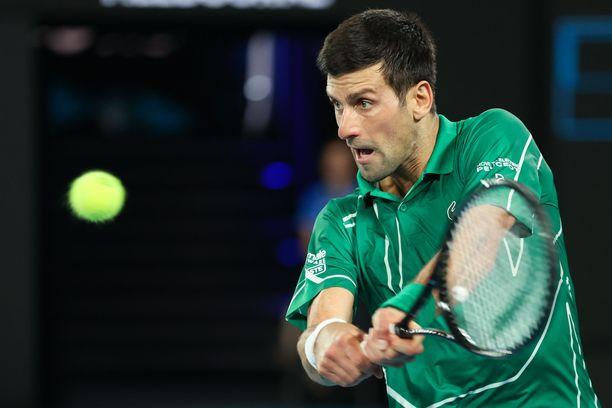 Maailmantilaston ykkönen Novak Djokovic voitti Australian avoimet alkuvuodesta.