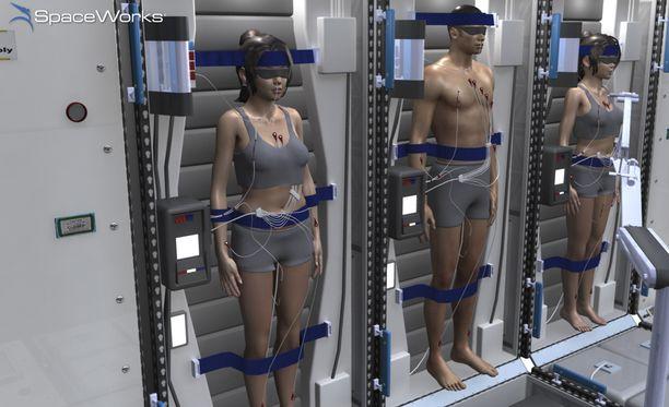 Miehistö viettäisi suurimman osan matkasta horrosmaisessa tilassa.