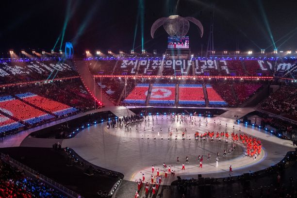 Pohjois-Korean lippu ei liehu Pekingin talviolympialaisissa.