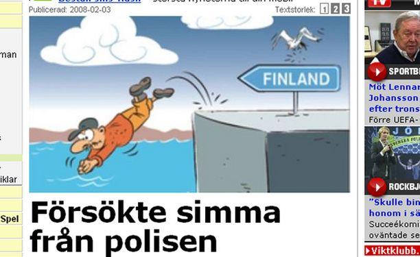 Aftonbladet uutisoi tapauksesta verkkosivuillaan.