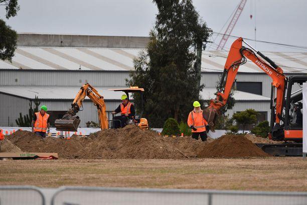 Muslimien hautausmaalle kaivetaan hautoja Christchurchissa