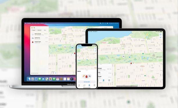 Kadonneille tai varastetuille tuotteille tulee lisäturvaa, jos ne tukevat Applen paikannusta.