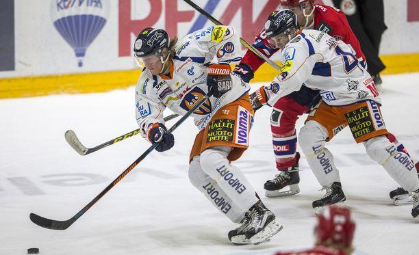 Patrik Laine oli Tapparan vaarallisin pelaaja, mutta ei tehnyt maalia.