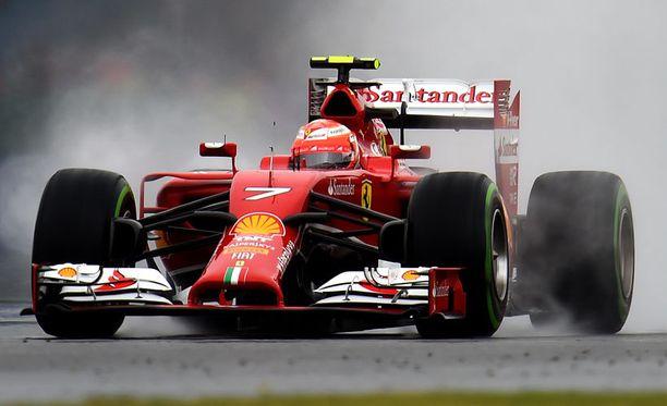 Kimi Räikkönen jäi aika-ajoissa sijalle 20.