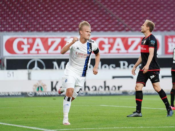 Joel Pohjanpalo on HSV:ssä lainalla Bundesliga-seura Bayer Leverkusenista.