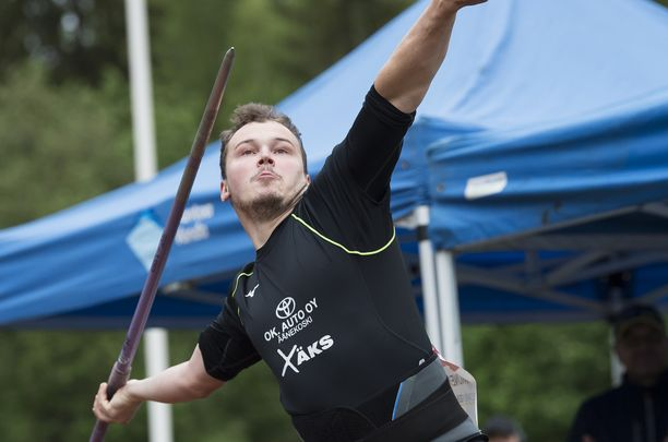 Jami Kinnunen avasi kilpailukautensa 2019 Vantaalla Kultainen keihäs -tapahtumassa viime lauantaina. Keppi lensi 72,06.