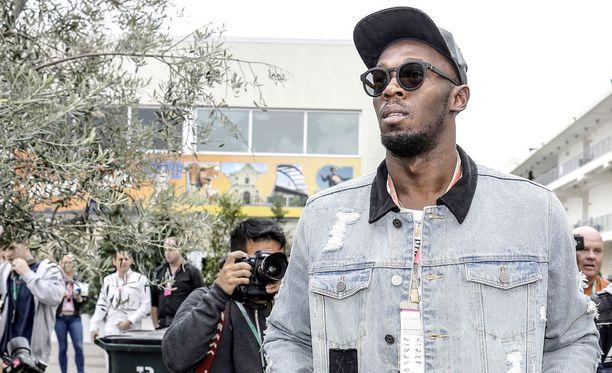 Usain Bolt oli paikalla viikonloppuna ajetussa Formula ykkösten Yhdysvaltain GP:ssä Austinissa, Teksasissa.