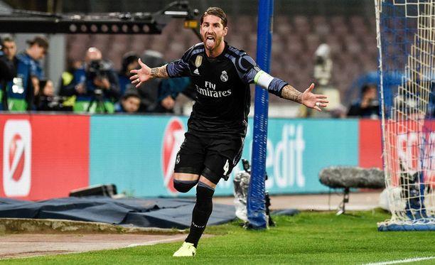 Sergio Ramos puski kaksi maalia ja jatkopaikan Real Madridille.