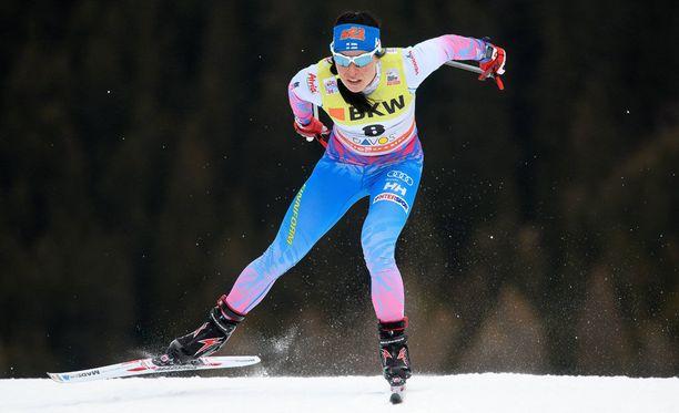 Krista Pärmäkoski on hiihtänyt useita upeita kisoja tämän kauden maailmancupissa.