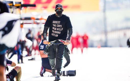 Saako Lewis Hamilton t-paidastaan rangaistuksen? FIA harkitsee, oliko vahva kannanotto liikaa