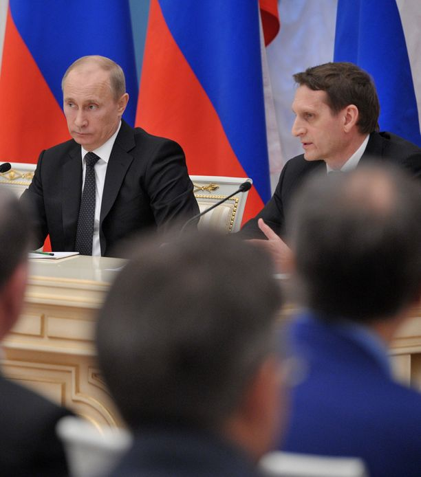 Putin ja duuman puhemies Sergei Naryshkin.