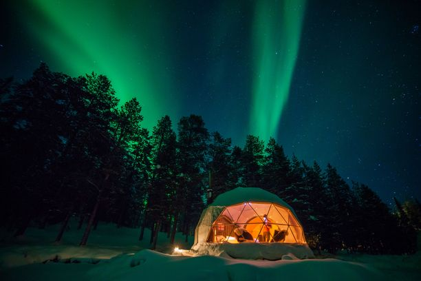 Aurora Dome on todellinen luksusteltta.