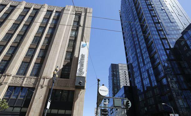Twitter-yhtiön pääkonttori San Franciscossa Yhdysvalloissa.