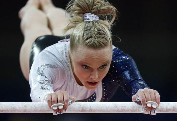 Annika Urvikko oli bongattu Time-lehden juttuun urheilijoiden hienoista asusteista.